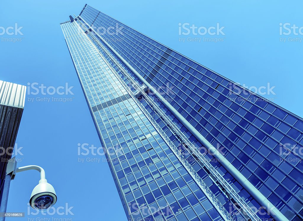 security camera and urban video royalty-free stock photo
