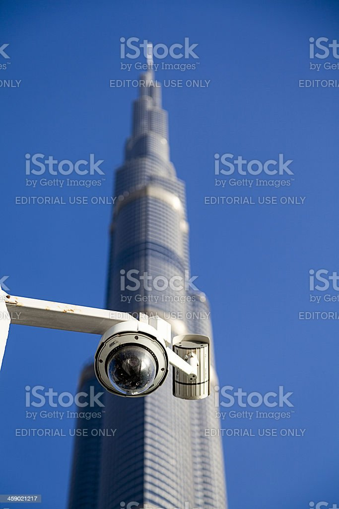 Security Camera at Burj Khalifa, Dubai. royalty-free stock photo