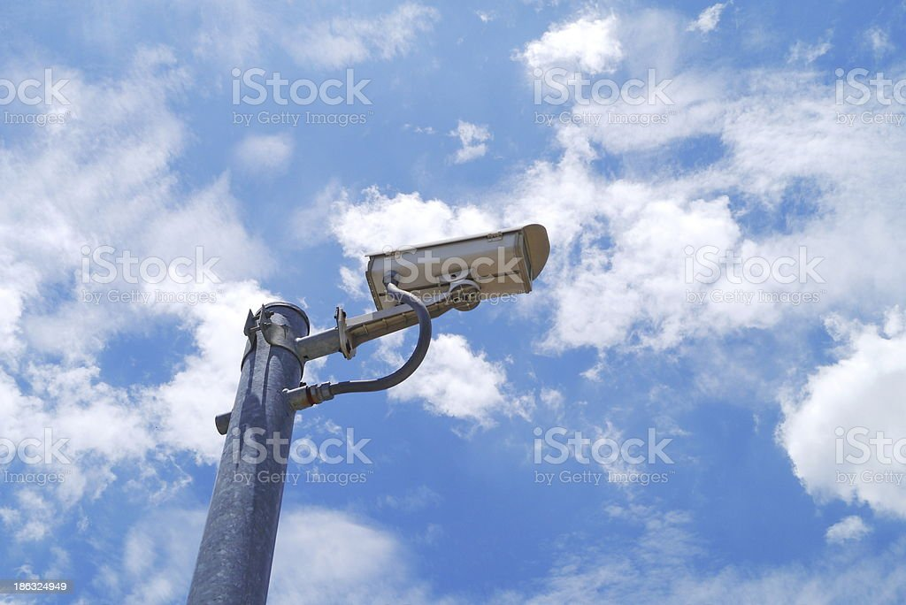 Security camera detects royalty-free stock photo