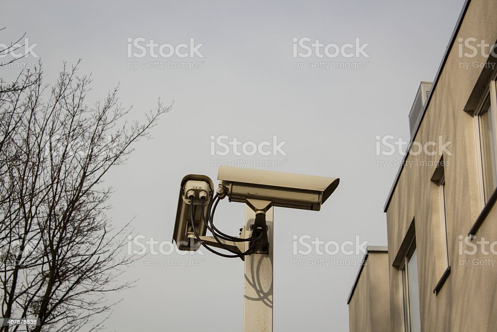 security camera for home protection stock photo