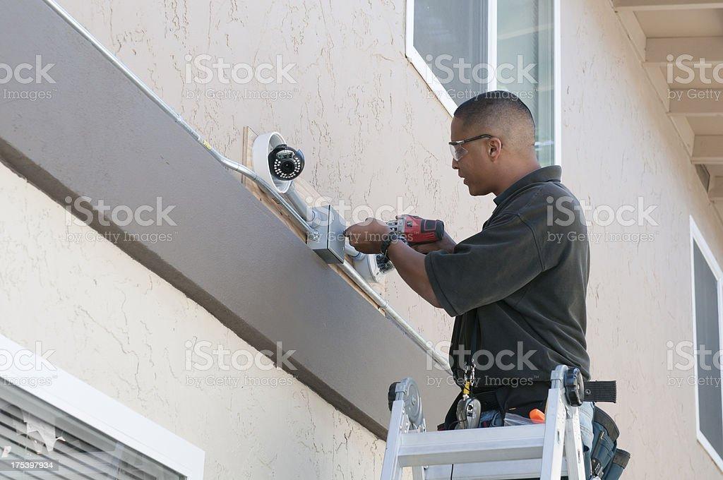 Security Camera Installation stock photo