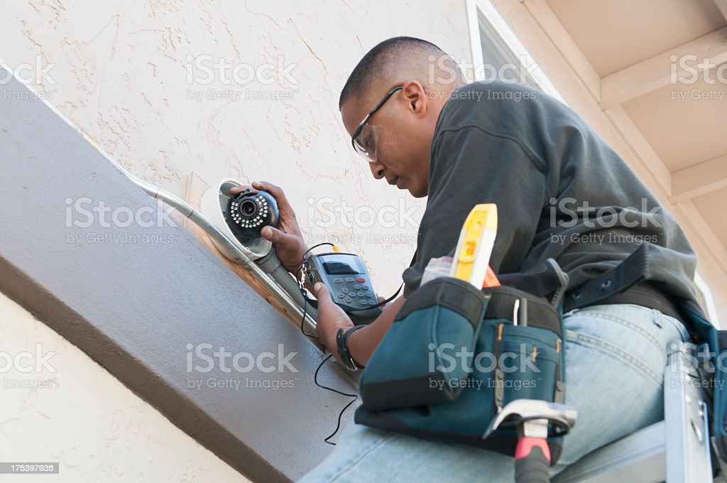 Security Camera Installation stock photo