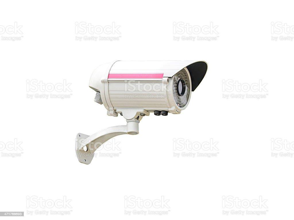 Security Camera isolated royalty-free stock photo