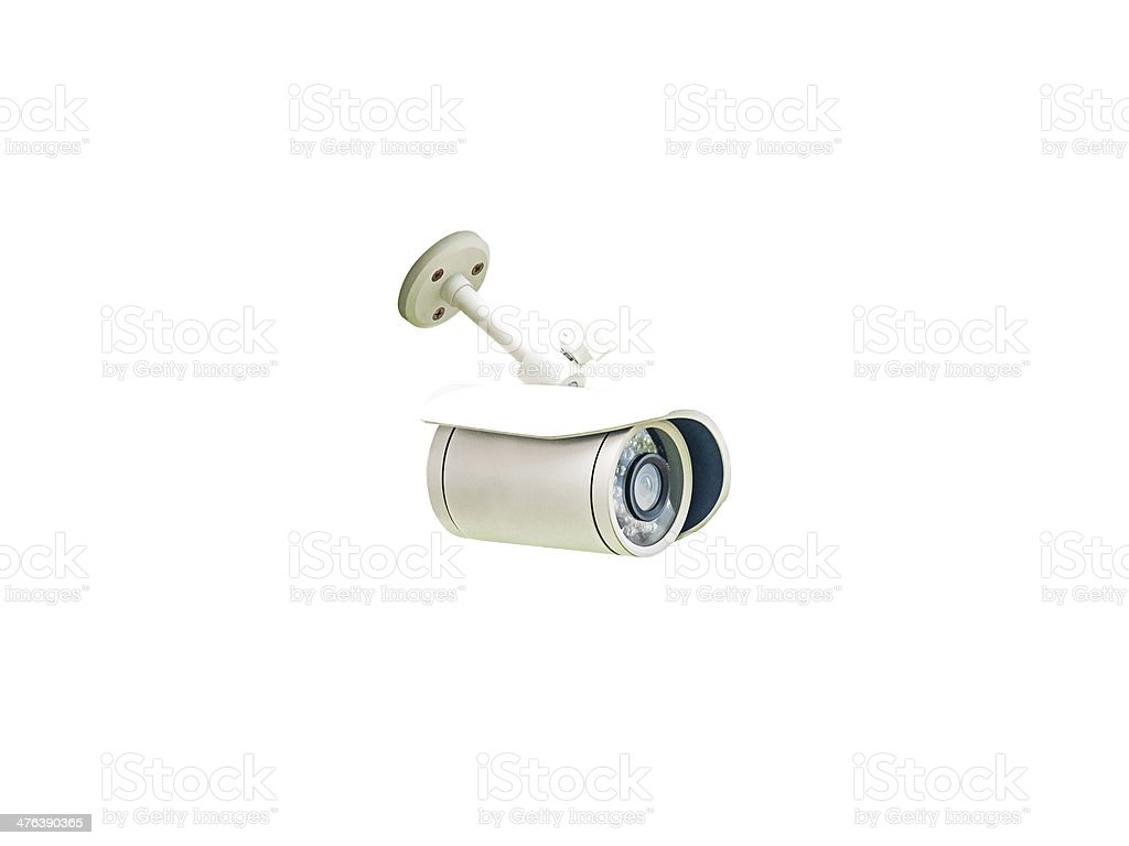 Security Camera isolated royalty-free stock photo