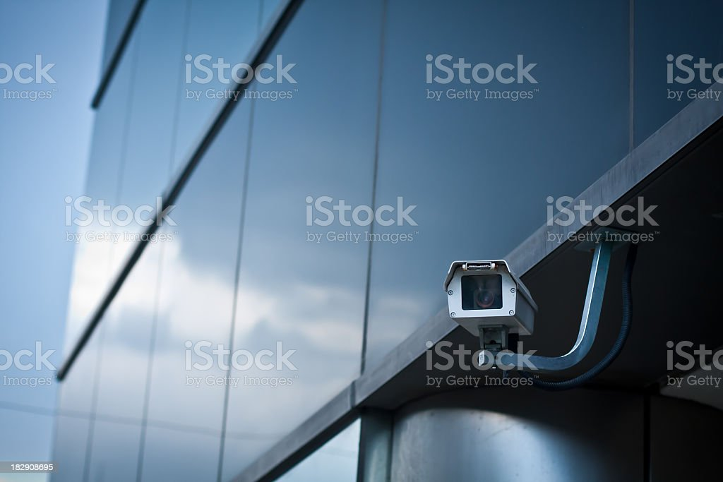 Security Camera on Building stock photo