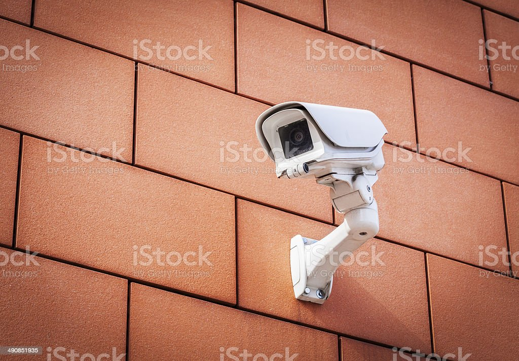 Security Camera On Wall stock photo