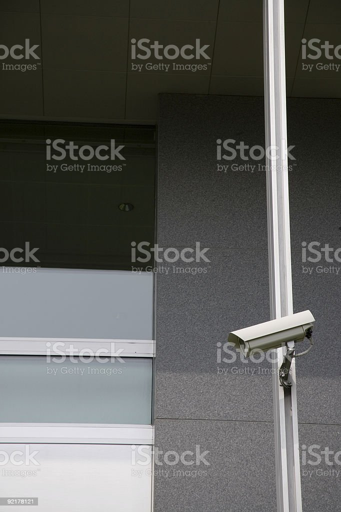 CCTV security camera royalty-free stock photo
