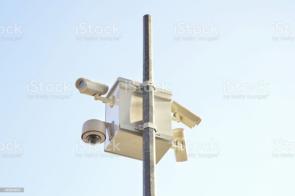 Security Cameras (Click for more) royalty-free stock photo