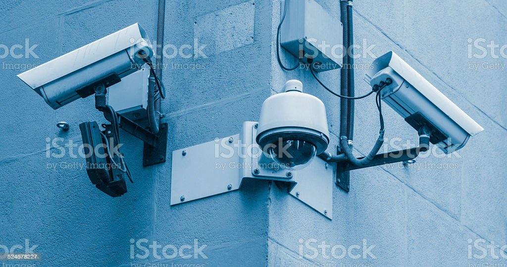 Security Cameras stock photo