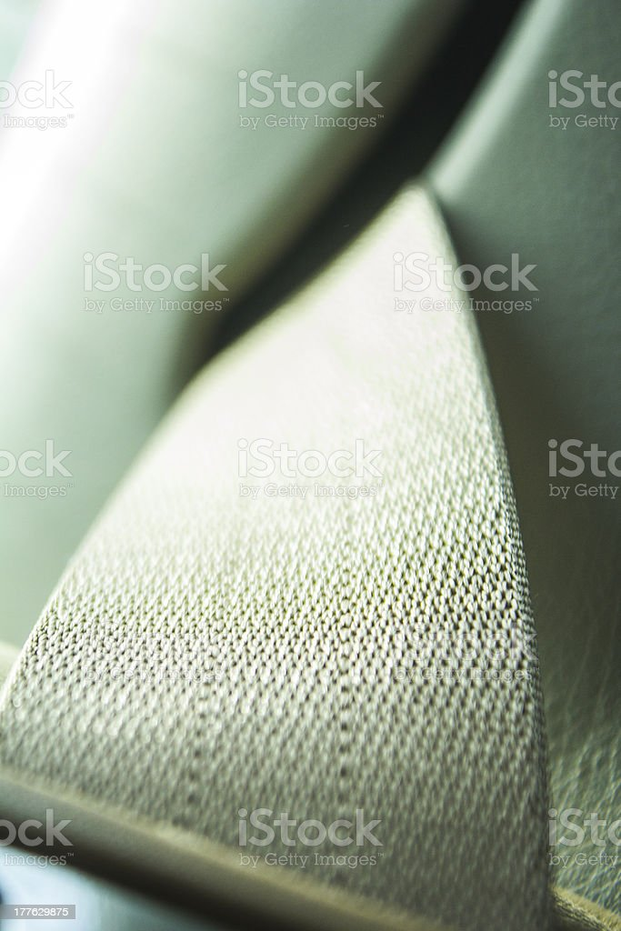 Security Car Strap In Detail royalty-free stock photo