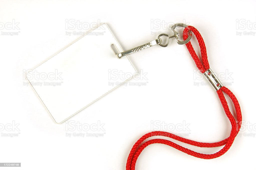 Security card with lanyard royalty-free stock photo
