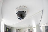 Security, CCTV camera in office building