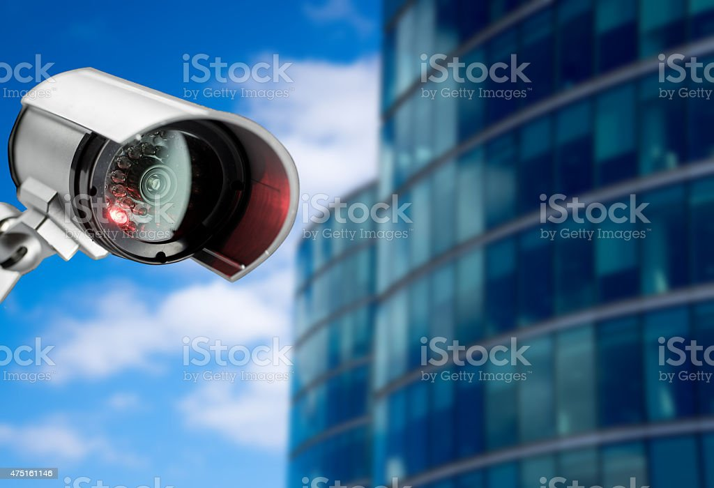Security, CCTV camera in the office building stock photo