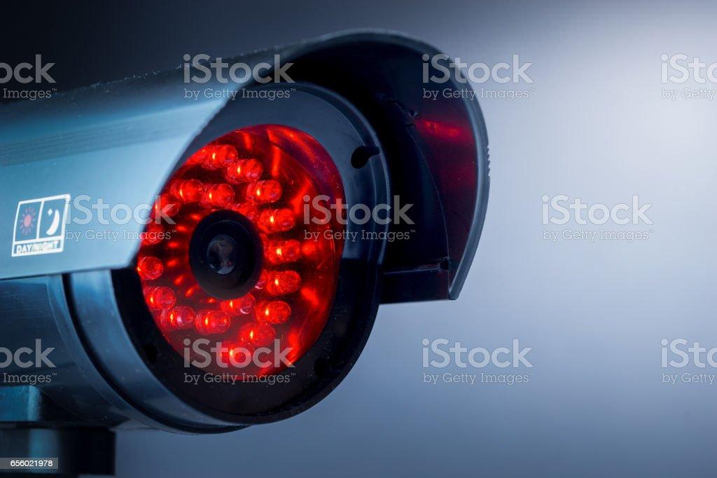 Security CCTV camera stock photo