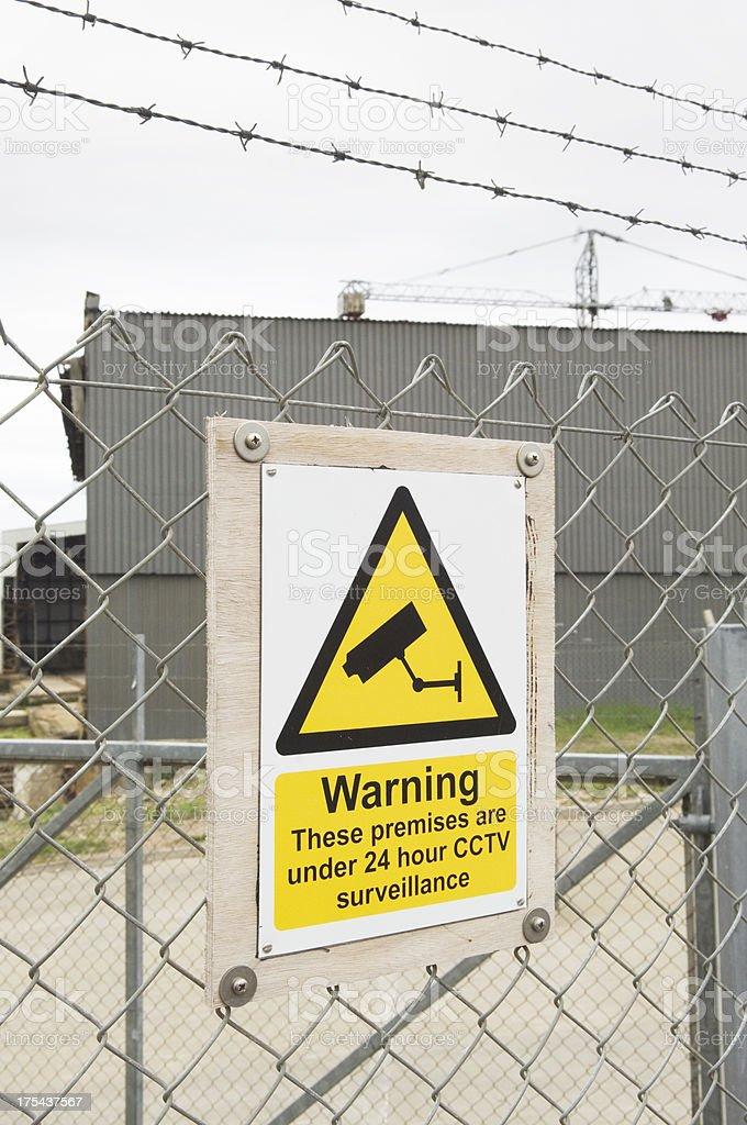 Security CCTV sign stock photo