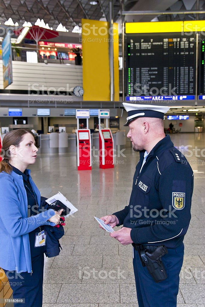 Security Check at the Airport stock photo