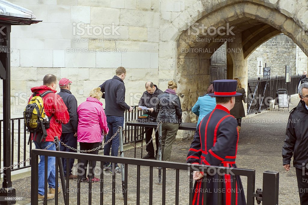 Security check at Tower of London royalty-free stock photo