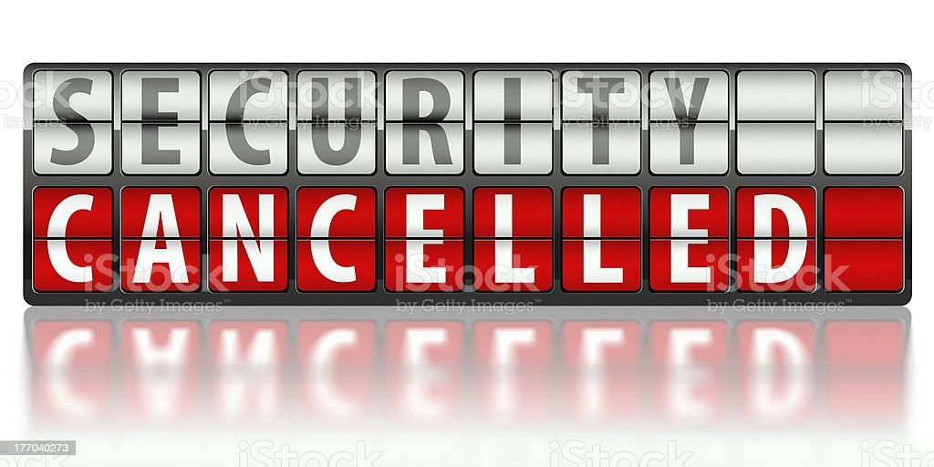 Security concept, cancelled royalty-free stock photo