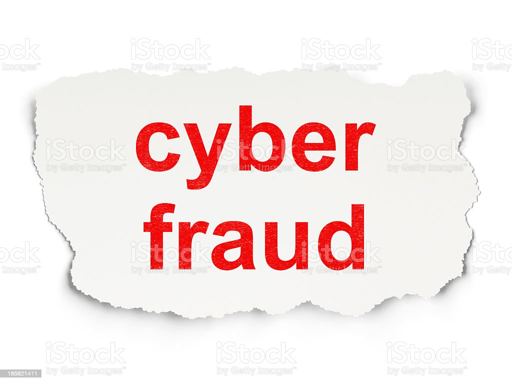 Security concept: Cyber Fraud on Paper background royalty-free stock photo