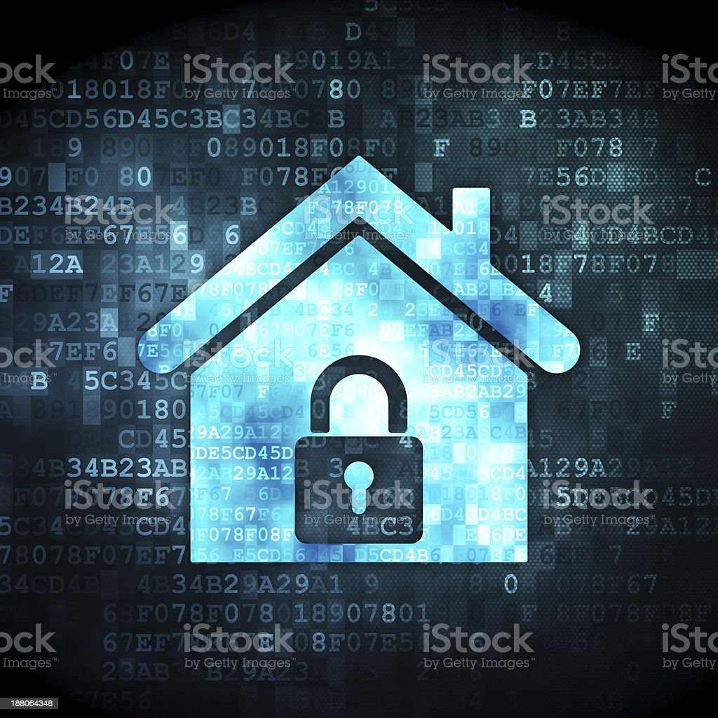 Security concept: home on digital background royalty-free stock photo