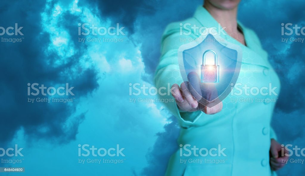 Security concept in business. stock photo
