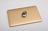 Security concept Padlock on Laptop