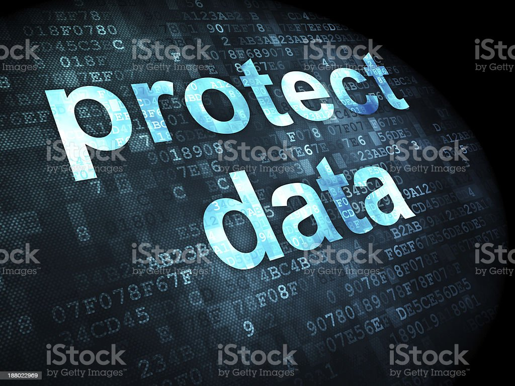 Security concept: protect data on digital background royalty-free stock photo