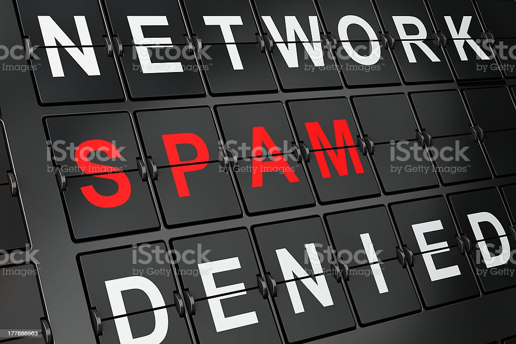 Security concept: Spam on airport board background royalty-free stock photo