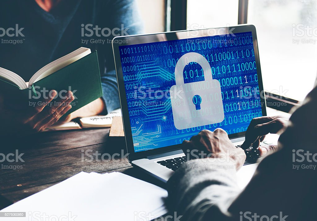 Security Data Protection Inofrmation Lock Save Private Concept stock photo