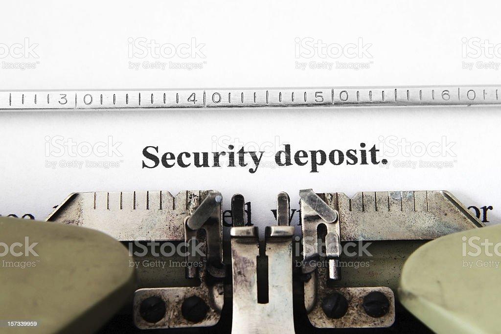 Security deposit royalty-free stock photo