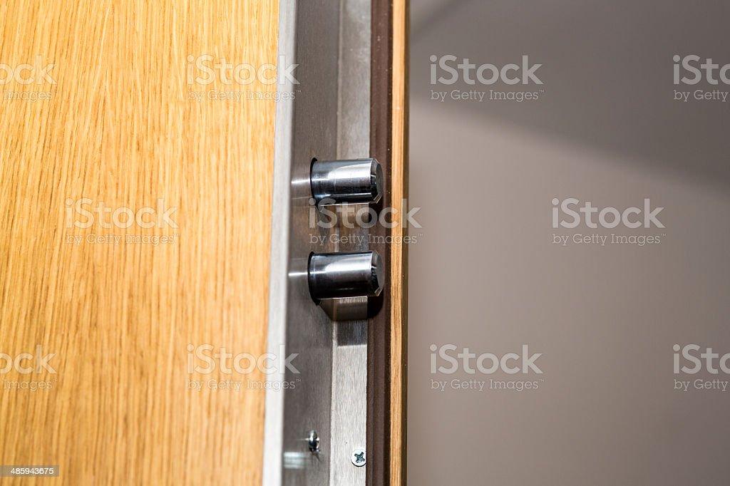 Security door lock stock photo