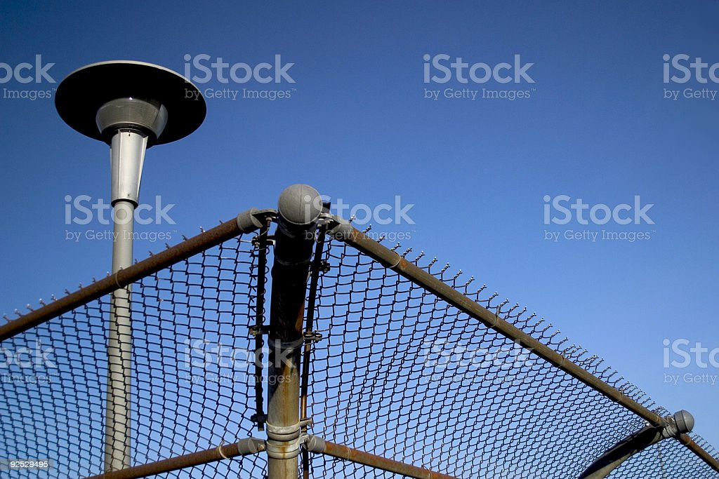 Security Fence & Light royalty-free stock photo