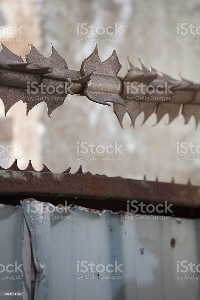 security fence royalty-free stock photo