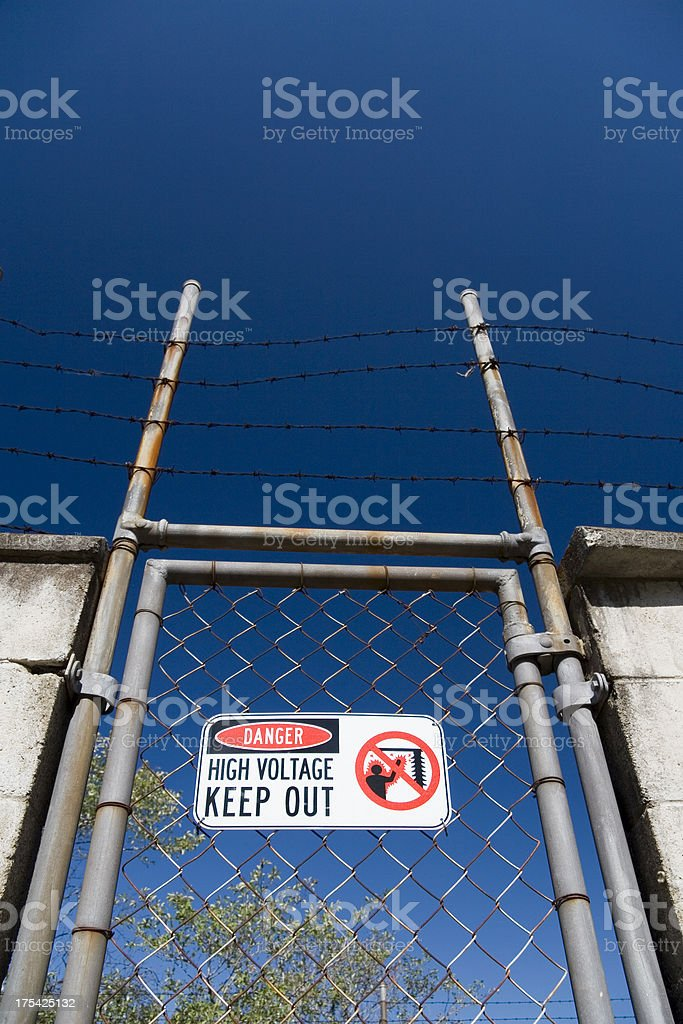 Security gate royalty-free stock photo