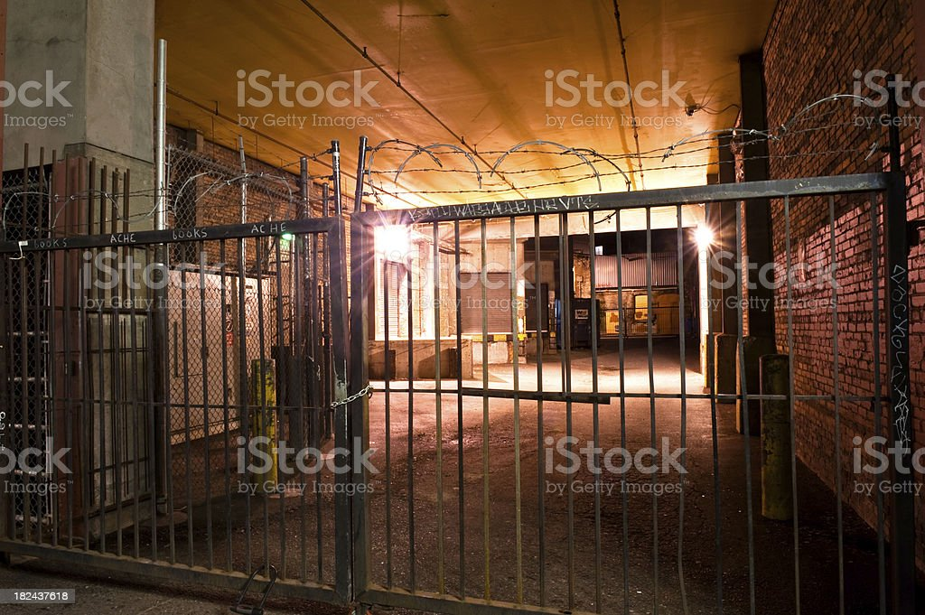 Security gate stock photo