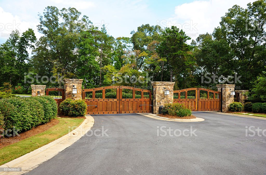 Security Gates stock photo
