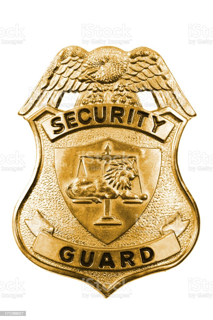 Security Guard Badge stock photo