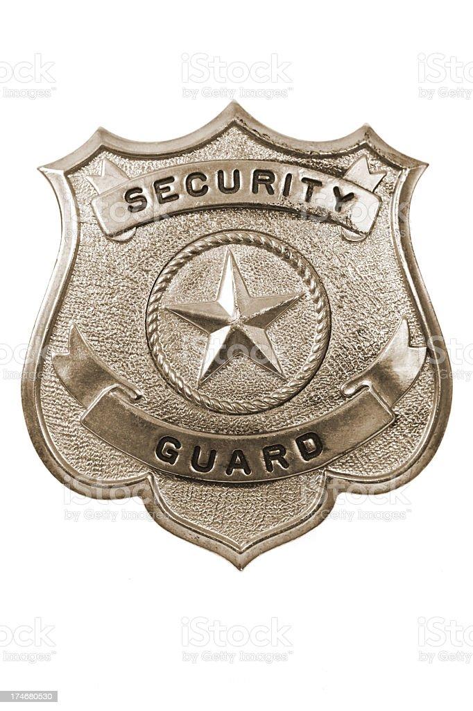 Security Guard Badge stock photo