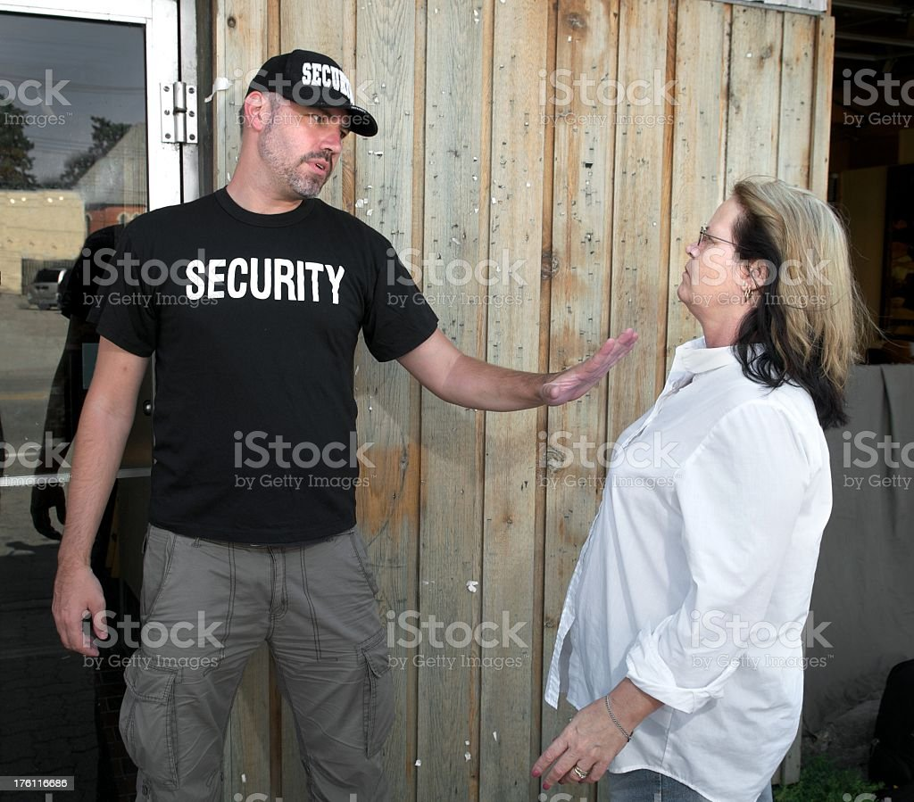 Security Guard Confrontation royalty-free stock photo