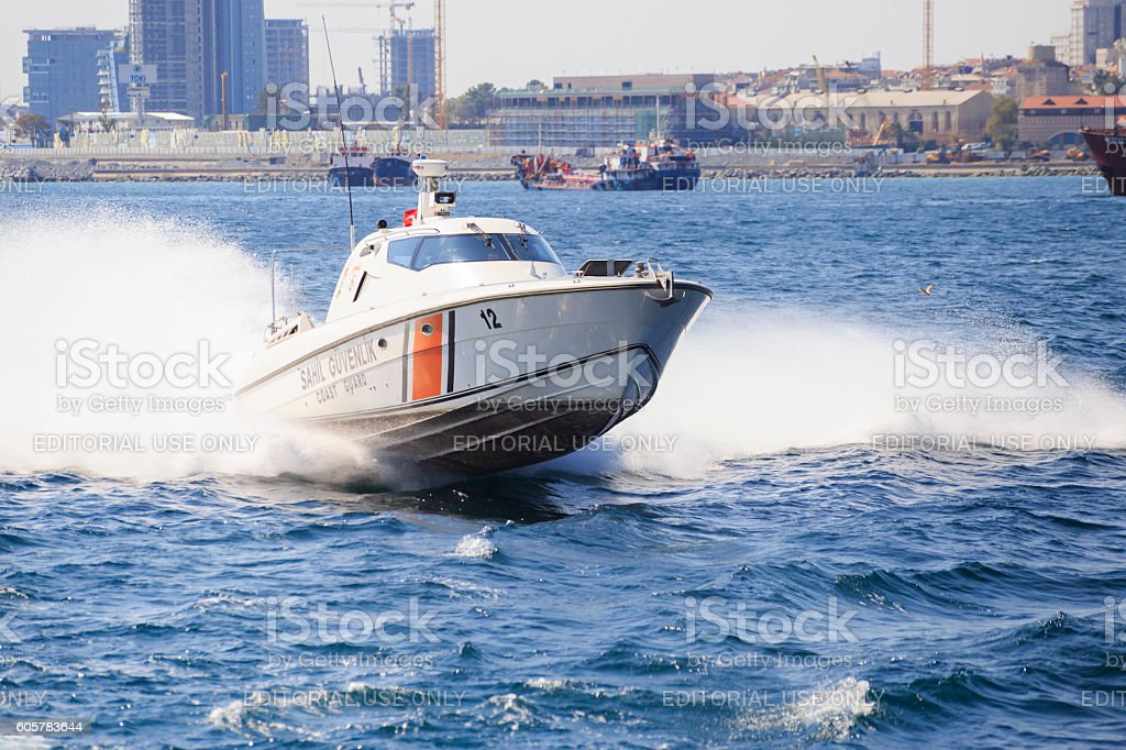 Security Guard in Sea stock photo