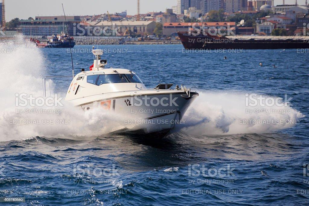 Security Guard in Sea stock photo