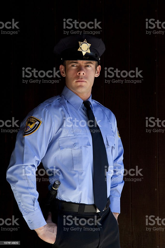 security guard on the alert royalty-free stock photo