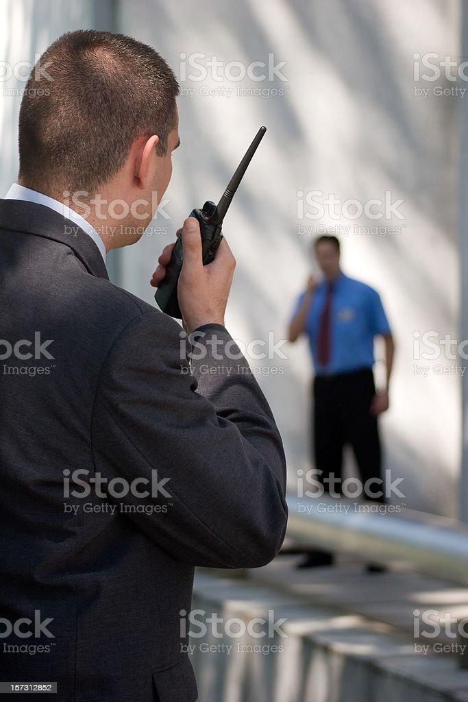 security guard royalty-free stock photo