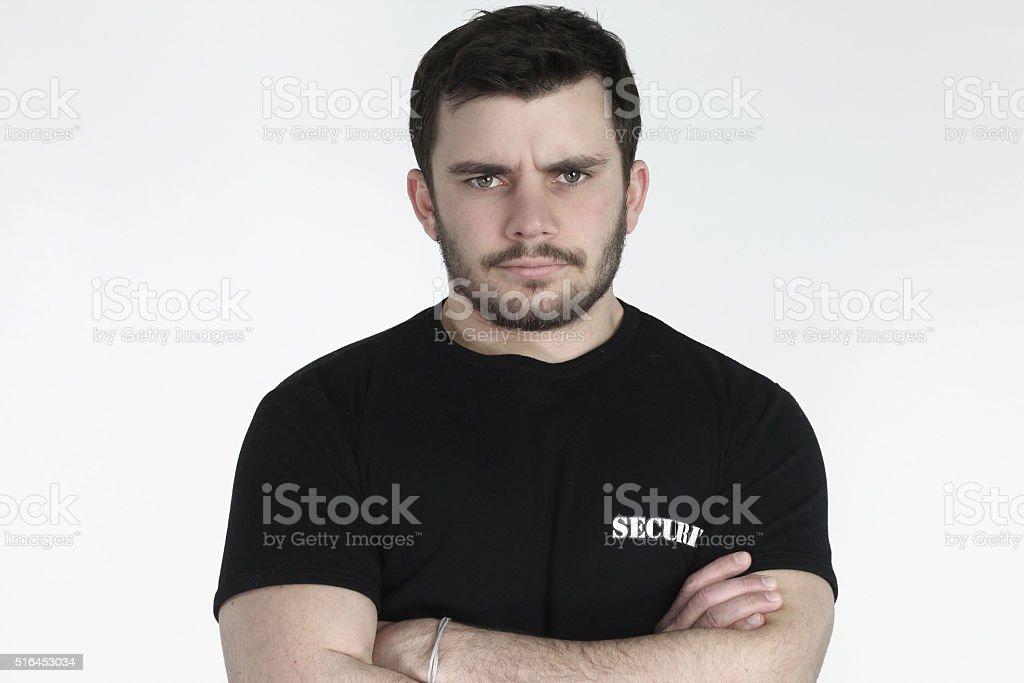 Security guard posing stock photo