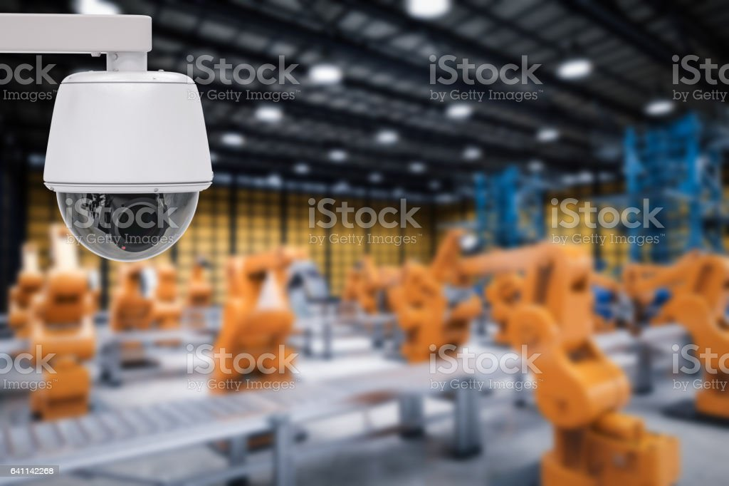 security in factory stock photo