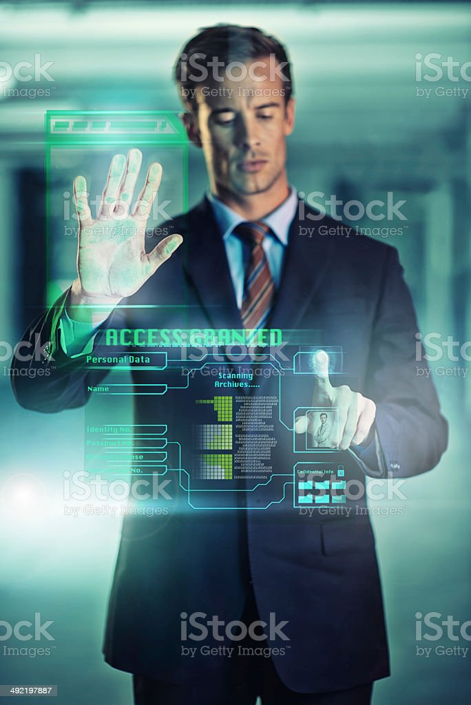 Security in the modern age stock photo