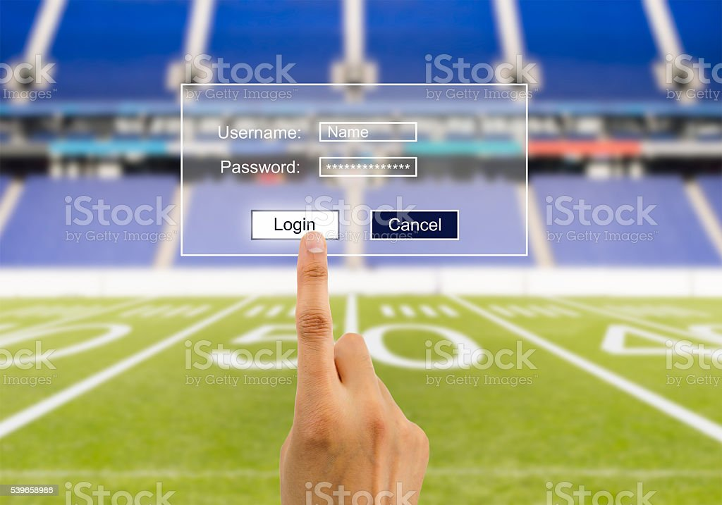 security in your betting rugby stock photo