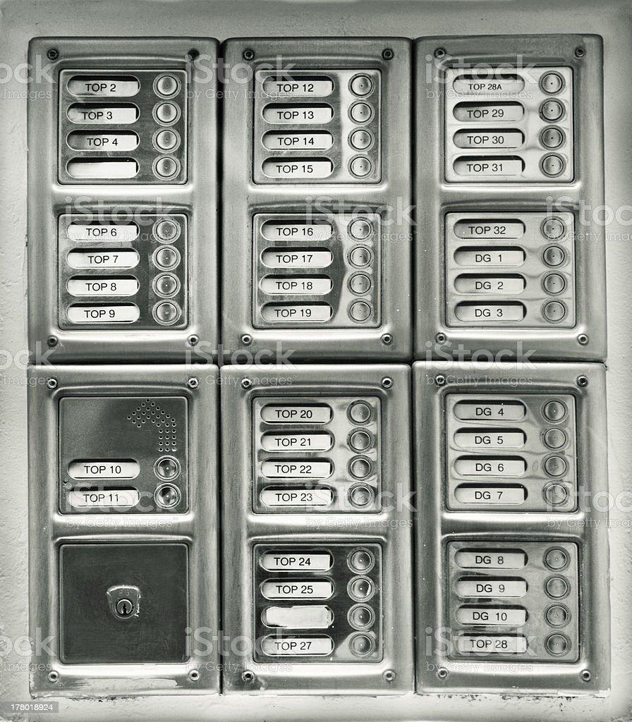Security intercom royalty-free stock photo