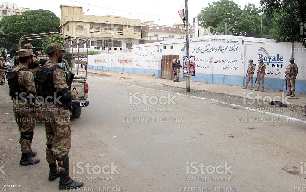 Security is high alert during elections stock photo