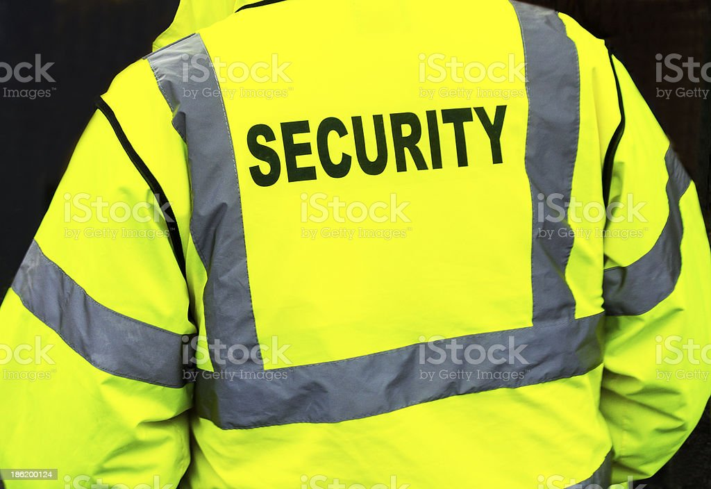 Security jacket closeup stock photo